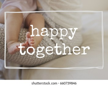 Family parentage home love together word