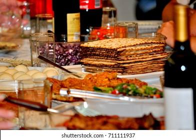 Family Passover dinner seder