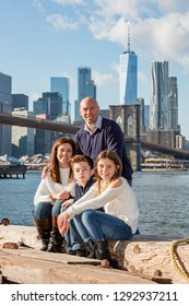 Family portrait in New York City