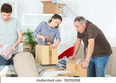 family preparing to relocate
