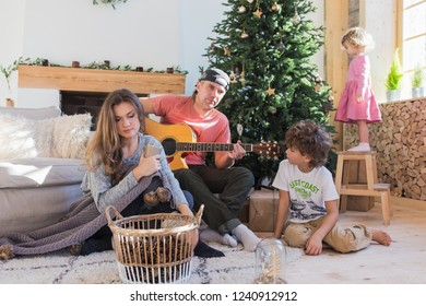 Family Singing Song Stock Photos, Images & Photography