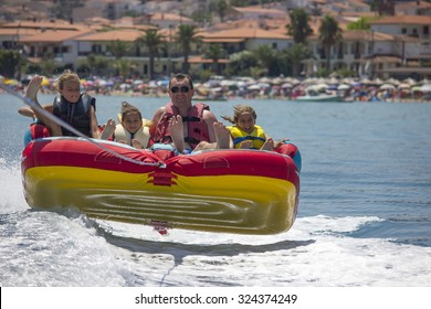 Family ride on the sea