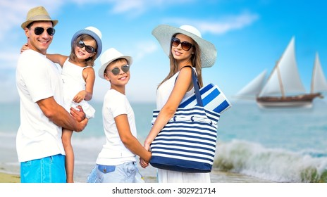 Family, Sailboat, Nautical Vessel.