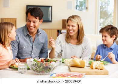 Family sharing meal