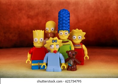A family Simpson Lego Mini Figure. Photo taken on: October 04th, 2014