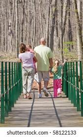Family Taking a Walk