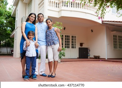 Family and their house