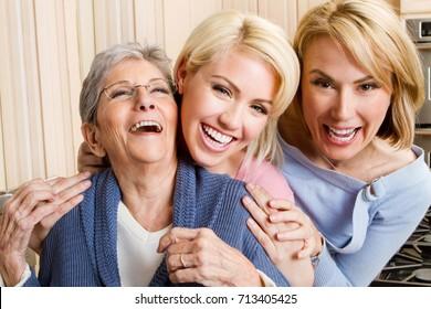 Family of three generation of women.