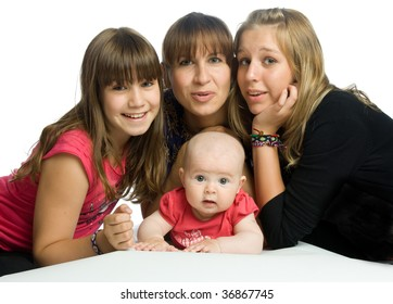 The family (three sisters and they mother)