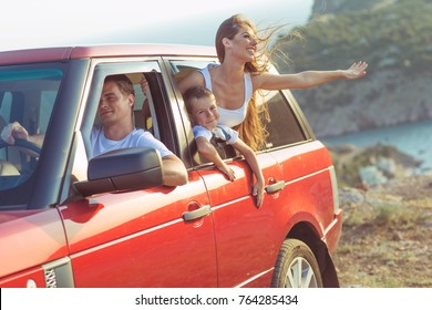 The family travels by car