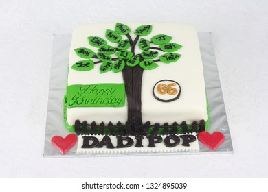 Family Tree Cake Decoration For Dads Birthday Party