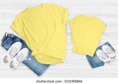 Family Tshirt Mockup Bundle, 13 Matching Parents Tee Newborn Toddler Bodysuit, Mommy and me, Daddy and me Kids Shirt Mock Up Bundle
