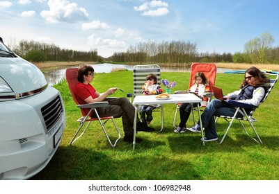 Family Rv Camping Images, Stock Photos & Vectors   Shutterstock