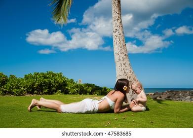family vacation on Oahu, Hawaii