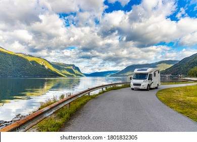 Family vacation travel RV, holiday trip in motorhome, Caravan car Vacation. - Shutterstock ID 1801832305