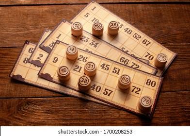 family vintage interesting lotto bingo game