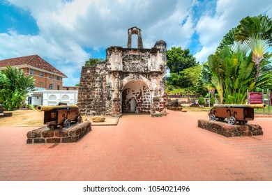 A famosa Fortress melaka. The remaining part of the ancient fortress of malacca, Malaysia.