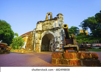 A famosa Fortress melaka. The remaining part of the ancient fortress of malacca