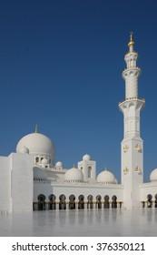 Famous Abu Dhabi Sheikh Zayed Mosque, UAE