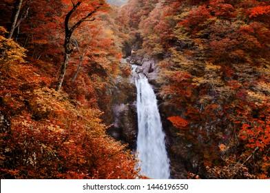 秋生大仙の有名な秋生滝(仙台) – 日本