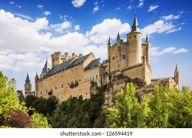 El famoso Alcázar de Segovia, Castilla y León, España