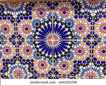 Famous Algerian ceramic tiles with beautiful Islamic / Arabic art