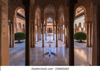 Famous Alhambra is a palace and fortress complex located in Granada, Andalusia, Spain