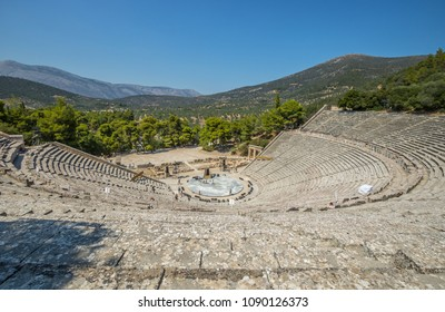 Famous ancient theatre of Epidauros, Greece