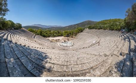 Famous ancient theatre of Epidauros, Greece