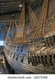 Famous ancient Vasa vessel in Vasa Museum Stockholm, Sweden