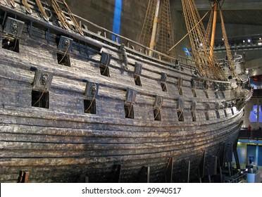 Famous ancient vasa vessel in Stockholm