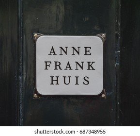 The famous Anne Frank House in Amsterdam - AMSTERDAM / THE NETHERLANDS - JULY 20, 2017