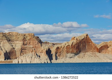 The famous Antelope Canyon from boat trip at Page, Arizona