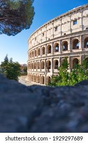 Famous antique Colosseum in Rome
