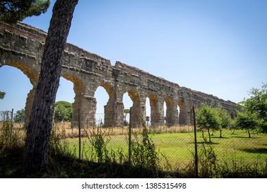 Famous aqueducts in Roman park