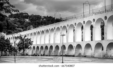 The famous arches of lapa in the city of Rio de Janeiro, Brazil./ Lapa Arches./ The famous arches of the barn.