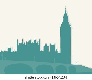 Famous architectural monuments and landmarks - London.