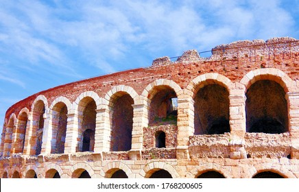 Famous arena in Verona Italy