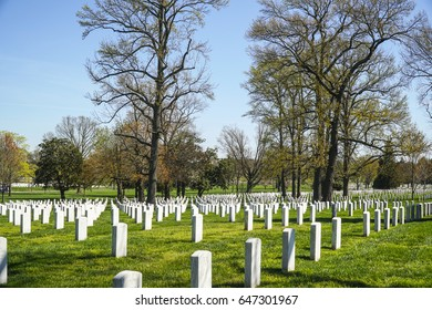 Famous Arlington Cemetery in Washington - WASHINGTON / DISTRICT OF COLUMBIA - APRIL 8, 2017