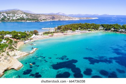 Famous Astir Beach in south Athens, Vouliagmeni, Greece