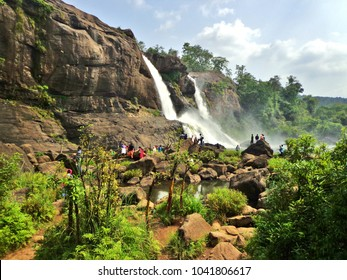 Famous Athirapally Waterfalls in Kerala Jungle - Kochi, India (Cochin)