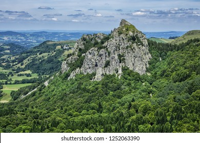 Famous Auvergne rocks. Volcans d'Auvergne regional natural park, Monts Dore Mountains, Auvergne, France.