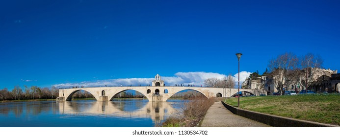 Famous Avignon Bridge also called Pont Saint-Benezet at Avignon France