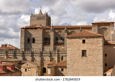 The famous Avila cathedral, Castilla y Leon, Spain.