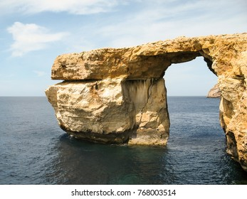 The famous Azure Window on the island of Malta at the Mediterranean Sea.