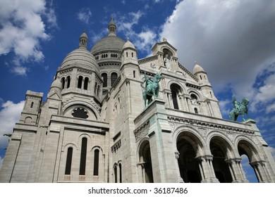 """the famous basilica """"sacre coeur"""" in Paris,France"""