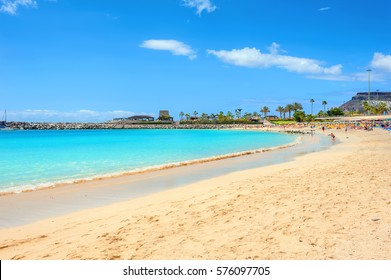 Famous beach of Amadores. Gran Canaria, Canary islands, Spain