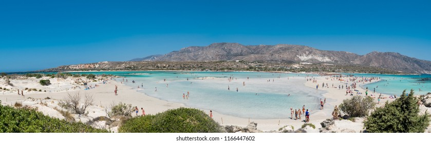 The famous beach of Elafonisi at southern Crete one of the most beautiful beaches of Greece
