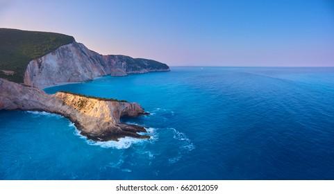The famous beach in Lefkada island - Porto Katsiki