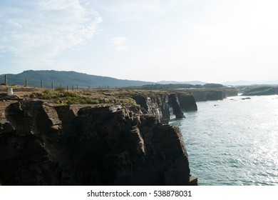 Famous beach of rocks in Galicia.